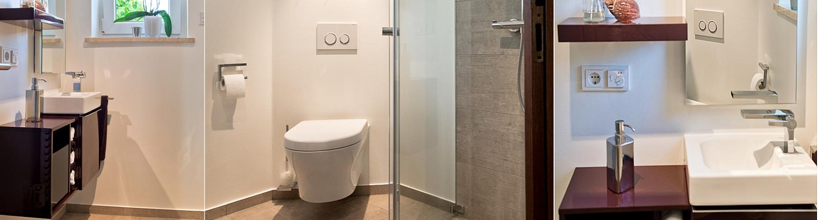 Dusche im Gäste-WC | Kreuz | Schnaittach | Bad, Heizung, Energie ...